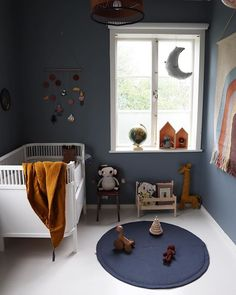 Boys bedrooms furniture can also be fun! Discover more ideas and inspirations with Circu Magical furniture. Dark Blue Bedroom Walls, Blue Rooms, Nursery Room, Kids Bedroom, Room Boys, Deco Studio, Modern Playroom, Childrens Room Decor, Kids Room Design