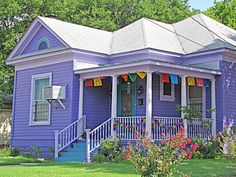 Wonderful Purple House Exterior Colors Paint Cottage Home