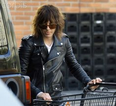 Katherine Moennig at the grocery store in West Hollywood. Love the jacket and Hot Kate moenning she is so my type :) I'm so GAy! !