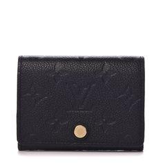 Louis Vuitton Makeup Bag, Black Louis Vuitton, Vuitton Bag, Louis Vuitton Monogram, Luxury Bags, Luxury Handbags, Business Card Holders, Authentic Louis Vuitton, Black Leather