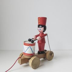 an old wooden toy