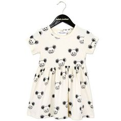 Mouse AOP Dress in Black by Mini Rodini - Junior Edition  - 1