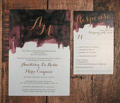 Splash of Colour Wedding Invitation Paint Wedding Invitation