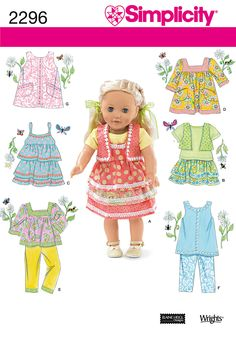 Simplicity : 2296 - American Girl Size doll clothes I make in my sewing business