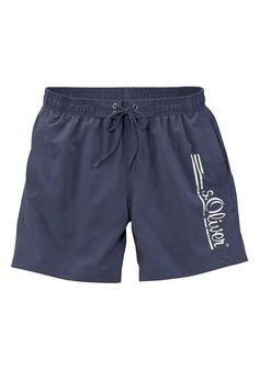 s.Oliver RED LABEL Beachwear Badeshorts mit Logo-Print im Used-Look ab 34,99€. Badeshorts mit Logo-Print im Used-Look, Mit seitlichen Eingrifftaschen bei OTTO