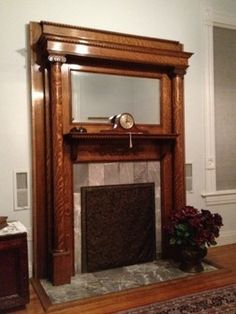 victorian fireplace mantels - Google Search