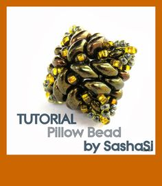 PILLOW BEAD Beading Tutorial DOWNLOAD  StepbyStep by SashaSi