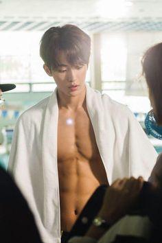 nam joo hyuk - chokes on food and almost dies Kyung Soo Jin, Lee Sung Kyung, Korean Celebrities, Korean Actors, Nam Joo Hyuk Abs, Weightlifting Kim Bok Joo, Dramas, Joon Hyung, Kim Book