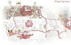 Esquema con pictogramas Huerta valencia masterplan arquitectura