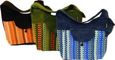 Saddle Bag in Corduroy & Hand Brocade