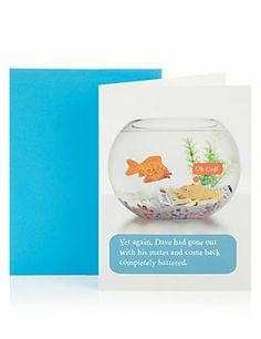Battered Fish Birthday Greetings Card