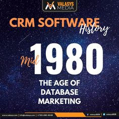 In the direct marketing was changing into database marketing. Marketing professionals started to communicate personally with customers for higher conversions. It was the early days of integrating customer info with sales strategy. Direct Marketing, Sales And Marketing, Crm System, Sales Strategy, Marketing Professional, 1980s, History, Historia
