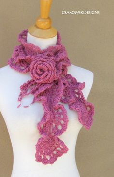 a floral twist on the neck wrap