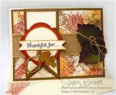 Complete supply list and directions @ http://craftyandcreativeideas.blogspot.com/2014/10/truly-grateful-card-dostamper-guest.html