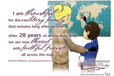 I am thankful for the military family that remains long after service. After 28 years of active duty time, we are now blessed with faithful friends all across the map. Maryann Makekau, founder of Hope Matters. (image courtesy Hope Matters) #Thankful #Thursdays #1000gifts www.operationwearehere.com
