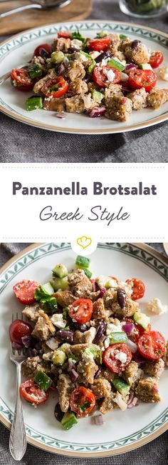Panzanella Brotsalat Greek Style