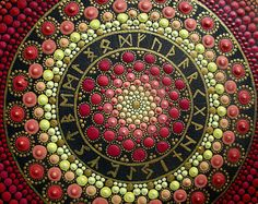 """Mandala """"circle Runic older Futhark"""". Bright and amazing mandala, the original, in a single copy, unique gift for any occasion"""