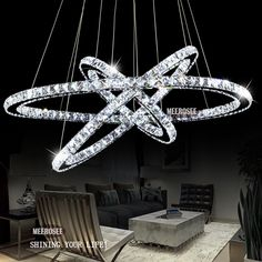 Find More Pendant Lights Information about Hot Selling 3 Diamond Ring Crystal Light Fixture, LED Pendant Light suspension Lumiere Modern LED Lighting Circles Lamp MD8825,High Quality Pendant Lights from Meerosee Lighting Co., Ltd on Aliexpress.com