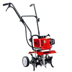 88CC Petrol Garden Cultivator Tiller Rotary Hoe 24 Tine Rototiller  Only AUD$378.84!   Get the earth moving quick and easy with the GIANTZ Hand-held Tiller. Featuring a 88cc 10,000rpm 2-stroke petrol motor, the tiller churns out soil deep and wide with its 24 teeth of hardened steel tines. The six blades allows you to till an extra-wide swath of 300mm and up to 150mm in depth in only one third of the time compared to four-blade models. In other words, you only need one pass with the tiller