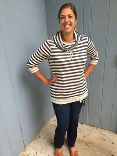 Love this striped fu