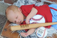 Looking for a Special Way to Celebrate the Arrival of Your New Baby Boy? Our Monogrammed Mini Baseball Bats are Fully Functional and Make a
