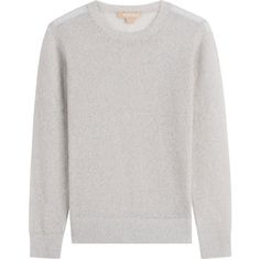 Michael Kors Pullover (€309) ❤ liked on Polyvore featuring tops, sweaters, grey, long sleeve crew neck sweater, crewneck pullover sweater, crew neck sweaters, michael kors tops and gray sweaters