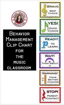 Music lessons   Music Behavior Clip Chart   music education   #musiceducation
