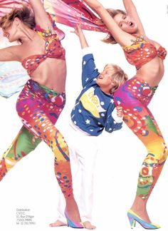 Enrico Coveri 1985 (Advertisements) Models: Ashley Richardson & Marcus Abel Photographer: Bill King