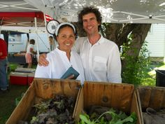The Millerton Farmers' Market. Coco and Roberto Flores of Good Dogs Farm