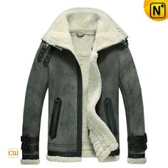 Buy winter sheepskin bomber jacket for men at CWMALLS Store in imported soft sheepskin shearling, custom sheepskin bomber jacket features buckled straps at double shearling collar, adjust buckled straps at cuffs makes you stand out of the crowds. Bomber Coat, Bomber Jacket Men, Leather Fashion, Leather Men, Leather Jackets, Men Fashion, Dapper Suits, Sheepskin Jacket, Mens Winter Coat
