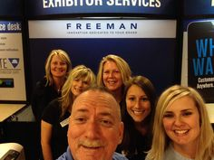 Sean Grigg, Brooke Graham & their fellow Freeman exhibitor services team members pose for a quick service desk selfie from the Gaylord Opryland Resort & Convention Center this week! Have a great show everyone!  #FreemanExposition #exhibitorservices #tradeshow #events #exhibits  #FreemanCo #eventprofs #meetingprofs #meetingplanning