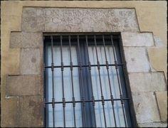 Llinda.  D'on Bernardus de Cardona 1650. Casa de l'Ardiacà.  Girona.