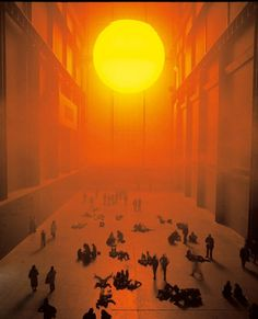 Installation view of Olafur Eliassons The Weather Project 2003