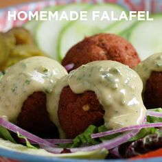 How to Brine and Roast Turkey with Homemade Gravy Homemade Falafel - Indian Food Recipes, Vegetarian Recipes, Cooking Recipes, Vegan Vegetarian, Healthy Recipes, Falafel Recipe, Baked Falafel, Tasty, Yummy Food