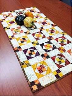 Four Patch Squared Table Runner pattern $4.95