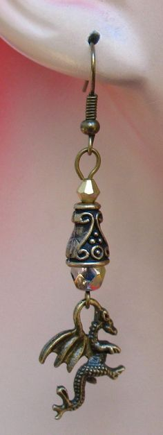 Burnished Gold Celtic Dragon Charm Earrings  http://cgi.ebay.com/ws/eBayISAPI.dll?ViewItem=160929946324