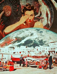Retrospective Dream. Surreal Mixed Media Collage Art By Ayham Jabr.