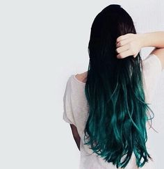 hair, green and blue