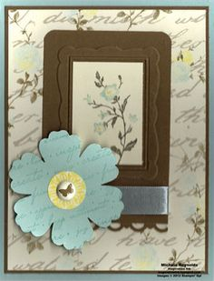 Charming Framed Flower by Michelerey - Cards and Paper Crafts at Splitcoaststampers