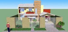 Resultado de imagem para fachadas de casas com muro e grades