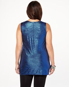 michel studio foil top | Shop Online at Addition Elle #AdditionElleOntheRoad