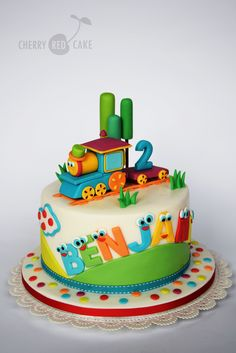 Train Cakes For Birthdays Bob The Train Cake Cherry Red Cake 2 Birthday Cake, Novelty Birthday Cakes, Novelty Cakes, Birthday Cakes For Kids, Fondant Cakes, Cupcake Cakes, Thomas Cakes, Cupcakes Decorados, Pinterest Cake