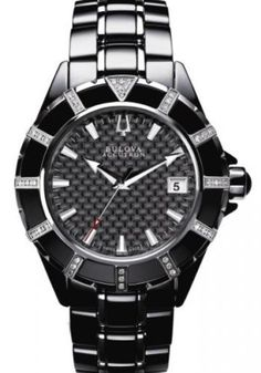Bulova Accutron Mirador Diamond Mens Watch 65E100 Bulova. $434.65. Date calendar.. Luminous hands and markers.. Curved sapphire crystal.. Water resistance to 50 meters / 165 feet.. Rotating bezel.