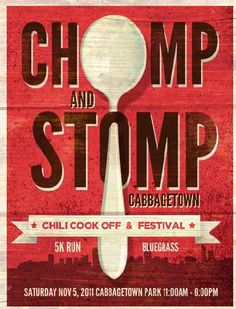 iming: Saturday, November 5, 11:00 a.m. – 6:00 p.m.  $$$: Only $5 per Spoon for Chili!  Location Info: Cabbagetown is WHERE, exactly??  Music Scoop: Let's get our stomp on, shall we?!  2010 Winners: Chili Masters