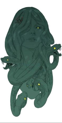 Steno, one of the gorgons. Medusa was in fact only one of the three sisters gorgons, and the only mortal. The Gorgons were the perversion in its three forms: Euriale represented the sexual perversi. Medusa Drawing, Medusa Art, Medusa Gorgon, Medusa Tattoo, Character Concept, Character Art, Concept Art, Fantasy Creatures, Mythical Creatures
