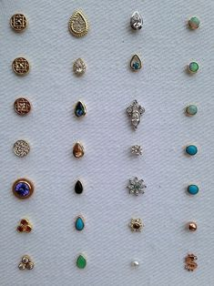 Beautiful BVLA studs (Mine is the opal in rose gold (top right) Adore! #Piercings