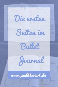 Ideas for the first pages of your Bullet Journal - BuJo - kunst