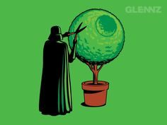 Threadless T-Shirts - Dark Side of the Garden by Glenn Jones Starwars, Star Wars Christmas Cards, Star Wars Weihnachten, Just In Case, Just For You, The Force Is Strong, Death Star, Love Stars, Geek Out
