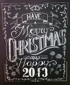 Christmas design Chalk board. Nice fonts on this chalkboard.