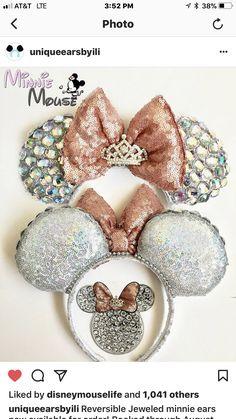 Diy Disney Ears, Disney Minnie Mouse Ears, Cute Disney, Mickey Ears Diy, Mickey Craft, Micky Ears, Disney Day, Walt Disney, Disney Cruise